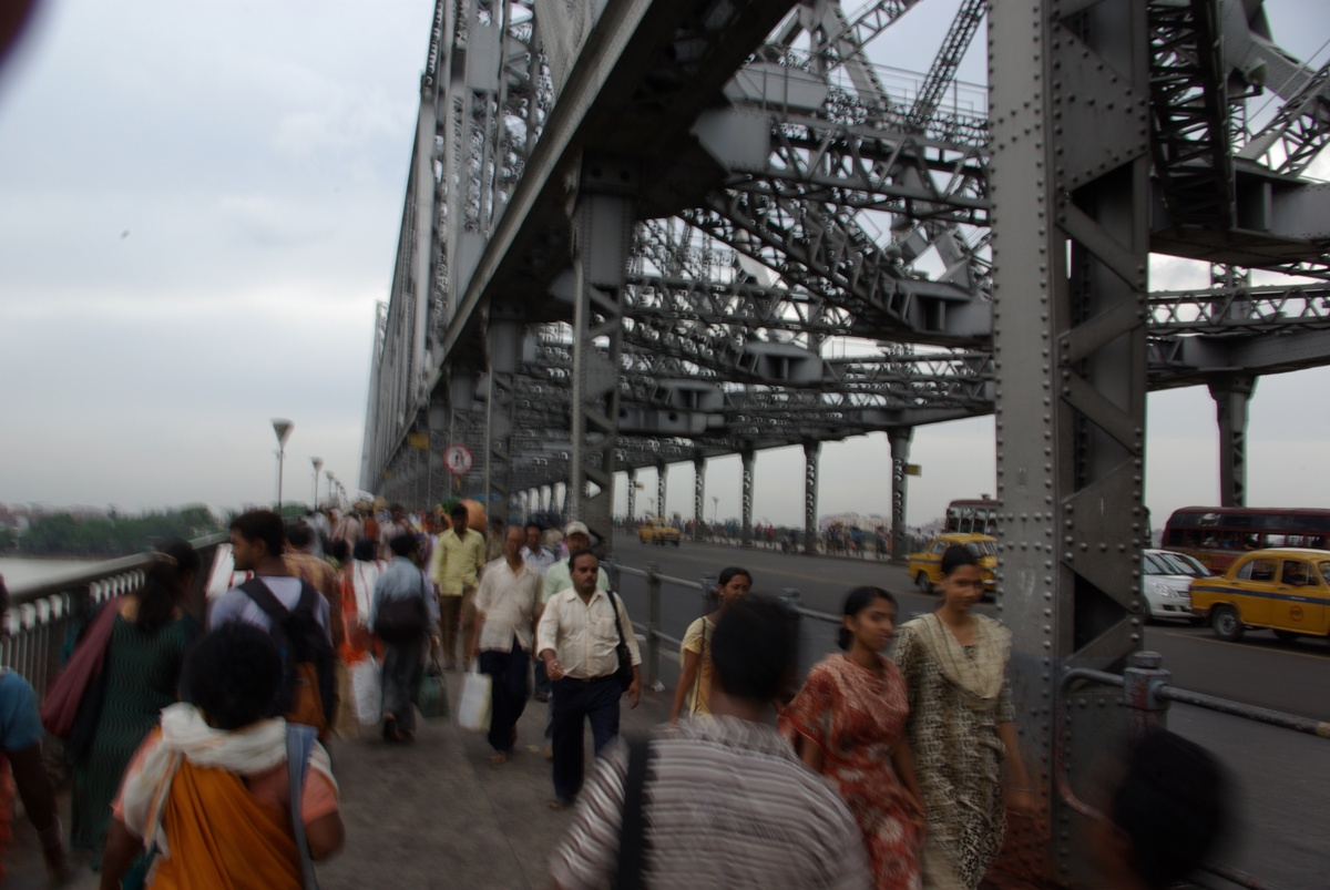 Ruch na Howrah Bridge