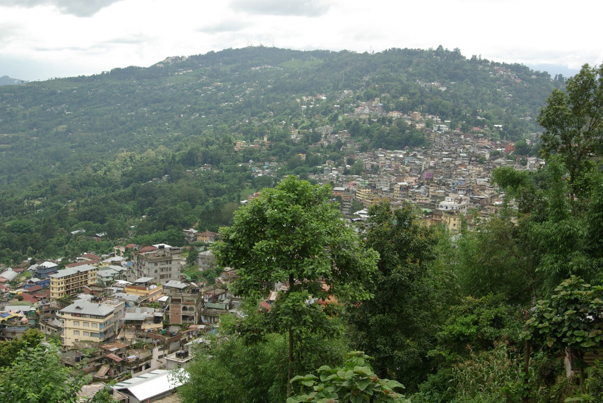 Widok na Kalimpong - tym razem z nieco wyższej perspektywy