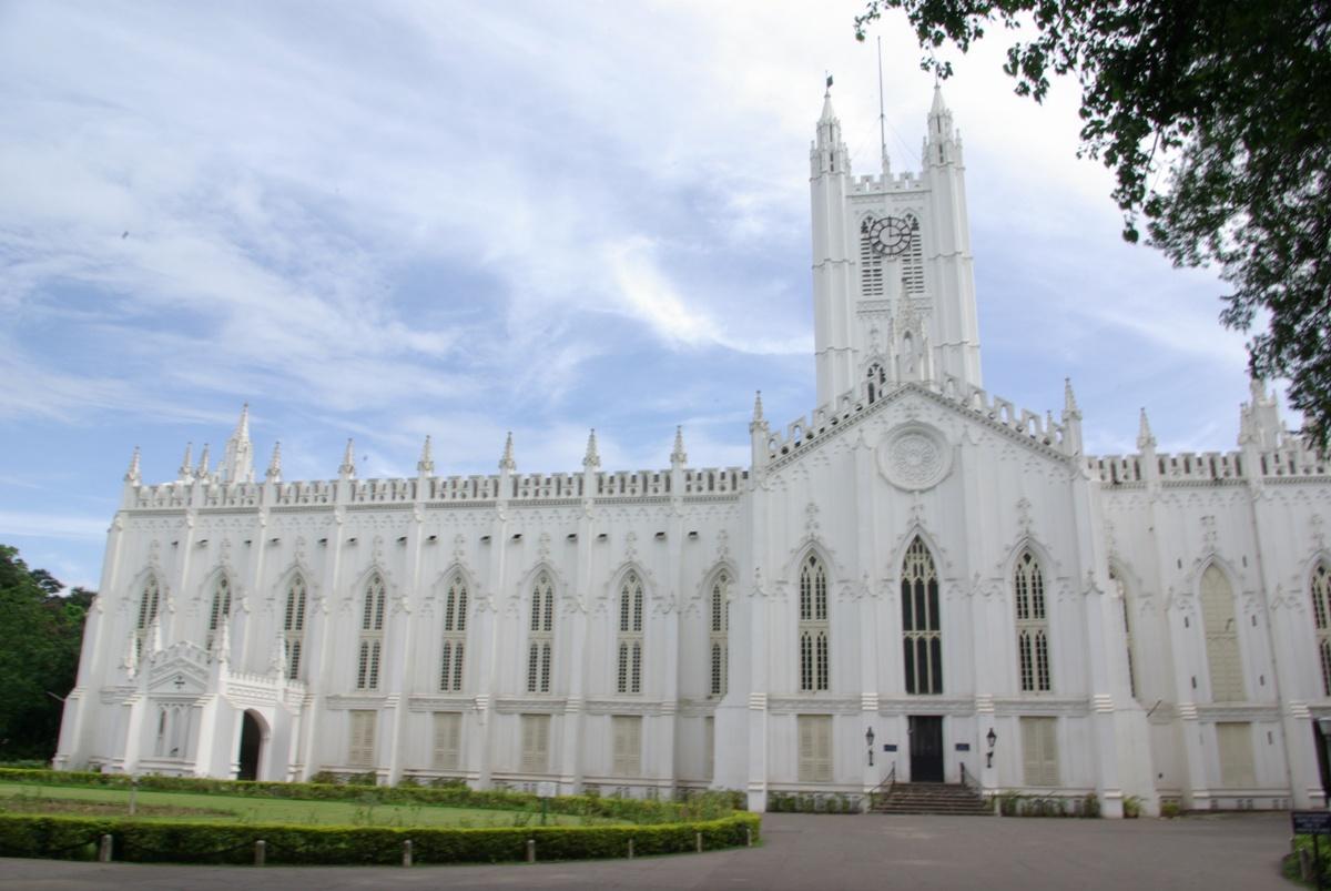 Katedra św. Pawła w Kalkucie, całkiem fajna biel wyszła!